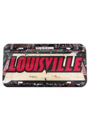 Louisville Cardinals Stadium Crystal Mirror Car Accessory License Plate