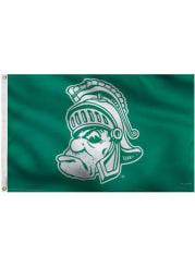 Michigan State Spartans 3x5 Vault Logo Grommet Green Silk Screen Grommet Flag