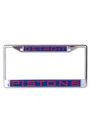 Detroit Pistons Chrome Inlaid License Frame
