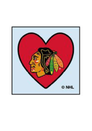 Chicago Blackhawks Heart 4 Pack Tattoo