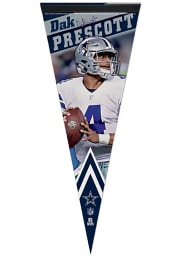 Dallas Cowboys Dak Prescott 12X30 Premium Pennant Pennant