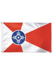 Wichita 3x5 Red Silk Screen Grommet Flag