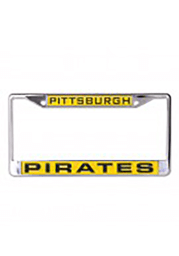 Pittsburgh Pirates Chrome Inlaid License Frame