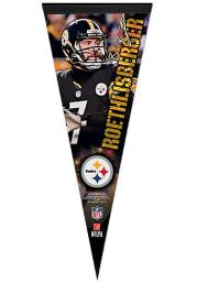 Pittsburgh Steelers Ben Roethlisberger 12x30 Vertical Player Premium Pennant