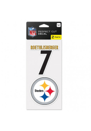 Ben Roethlisberger Pittsburgh Steelers 2 Pack Player Auto Decal - Black