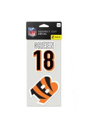 AJ Green Cincinnati Bengals 2 Pack Player Auto Decal - Orange