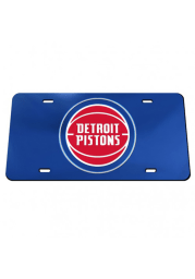 Detroit Pistons Crystal Mirror Car Accessory License Plate