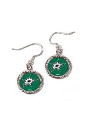 Dallas Stars Hammered Dangle Womens Earrings
