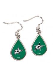 Dallas Stars Tear Drop Womens Earrings