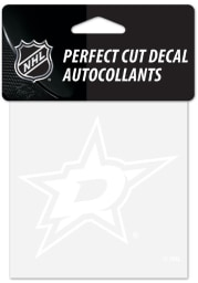 Dallas Stars Perfect Cut Auto Decal - White