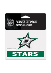 Dallas Stars Team Name and Logo Auto Decal - Green