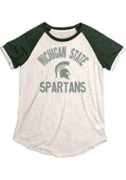 Michigan State Spartans Womens Oatmeal Stella Short Sleeve Crew T-Shirt