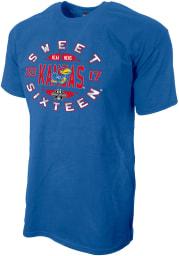 Kansas Jayhawks Blue 2017 Sweet 16 Short Sleeve T Shirt