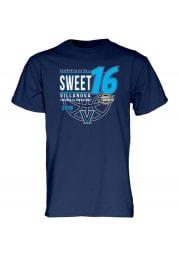 Villanova Wildcats Navy Blue Sweet 16 Short Sleeve T Shirt