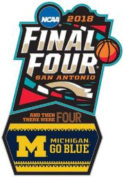 Michigan Wolverines Souvenir 2018 Final Four Collector Pin