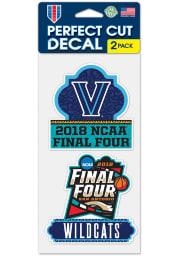 Villanova Wildcats 2pk 4x4 2018 Final Four Auto Decal - Navy Blue