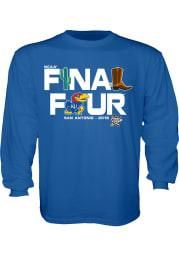 Kansas Jayhawks Youth Blue Late Breaking Long Sleeve T-Shirt