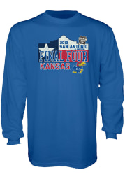 Kansas Jayhawks Blue Courage Long Sleeve T Shirt