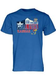 Kansas Jayhawks Blue Courage Short Sleeve T Shirt