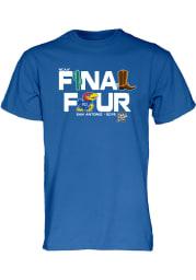 Kansas Jayhawks Blue Late Breaking Short Sleeve T Shirt