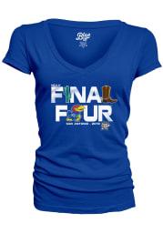 Kansas Jayhawks Womens Blue Late Breaking Short Sleeve T-Shirt