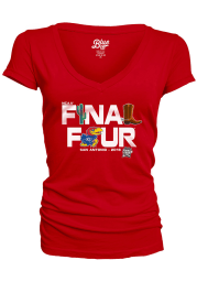 Kansas Jayhawks Womens Red Late Breaking Short Sleeve T-Shirt