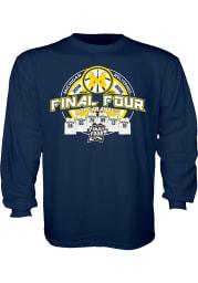 Michigan Wolverines Youth Navy Blue Jerseys Long Sleeve T-Shirt