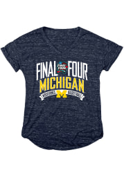 Michigan Wolverines Womens Navy Blue Magpie Jr Short Sleeve T-Shirt