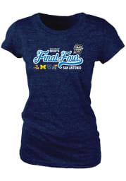 Villanova Wildcats Womens Navy Blue Diploma Short Sleeve T-Shirt
