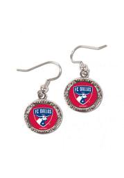 FC Dallas Hammered Womens Earrings