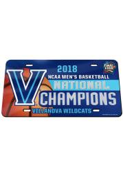 Villanova Wildcats 2018 National Champion Car Accessory License Plate
