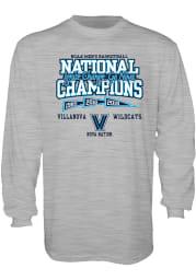 Villanova Wildcats Grey Front Court Long Sleeve T Shirt