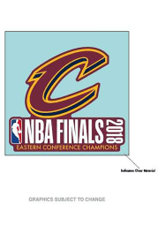 Cleveland Cavaliers 2018 NBA Finals 4x4 Auto Decal - Maroon