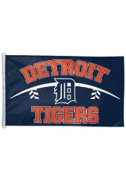 Detroit Tigers 3x5 Deluxe Navy Blue Silk Screen Grommet Flag