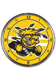 Wichita State Shockers Chrome Striped Wall Clock