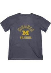 Michigan Wolverines Womens Navy Blue Cara Short Sleeve T-Shirt