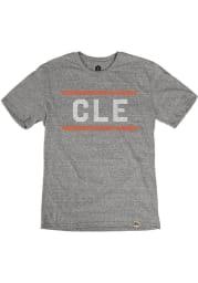 Cleveland Grey CLE Block Short Sleeve T Shirt