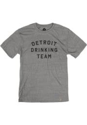 Detroit Grey Drinking Team Short Sleeve T Shirt