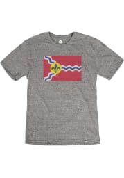St Louis Grey City Flag Short Sleeve T Shirt