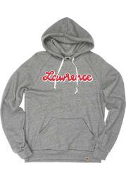 Lawrence Heather Grey Distressed Script Long Sleeve Fleece Hood Sweatshirt
