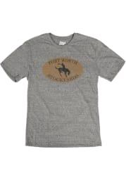Fort Worth Grey Bronco Short Sleeve T Shirt