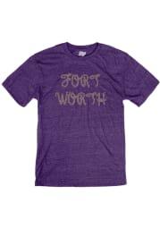 Fort Worth Purple Rope Short Sleeve T Shirt
