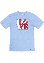 Philly Light Blue Love Short Sleeve T Shirt