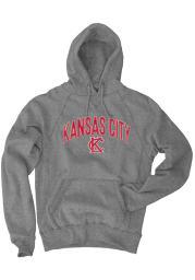 Kansas City Grey Monogram Long Sleeve Fleece Hood Sweatshirt