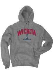 Wichita Grey Keeper Long Sleeve Fleece Hood Sweatshirt