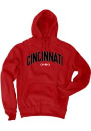 Cincinnati Red Ohio Long Sleeve Fleece Hood Sweatshirt