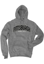 Pittsburgh Grey Steel City Long Sleeve Fleece Hood Sweatshirt