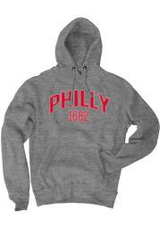 Philadelphia Grey EST Long Sleeve Fleece Hood Sweatshirt