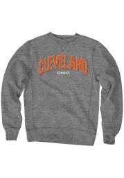 Cleveland Mens Black Wordmark Long Sleeve Crew Sweatshirt