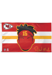 Kansas City Chiefs Patrick Mahomes Deluxe Red Silk Screen Grommet Flag